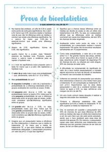 BIOESTATÍSTICA - VALOR DE P