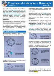 Desenvolvimento Embrionário e Placentação