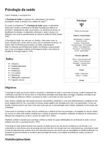 Psicologia da saúde – Wikipédia  a enciclopédia livre