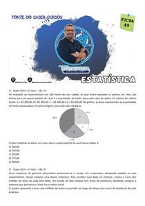 FICHA 9 DE QUESTÕES - ESTATÍSTICA