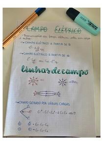 CAMPO ELÉTRICO - MAPAS MENTAIS