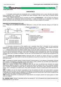 MEDRESUMOS 2016 - BIOFÍSICA 05 - Hemodinâmica