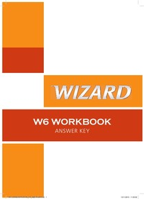 homework w6 wizard