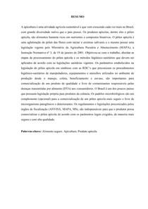 Estudo de caso: Higiene e legislação do processamento de pólen apícola