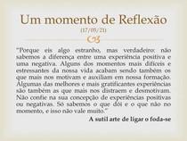 Um momento de Reflexão (17-05)