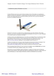 Instalando placas Wifi no Linux
