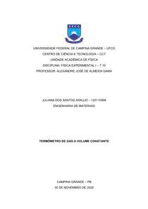Relatório VIII - Termômetro de gás a volume constante