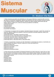 Questões de Anatomia Humana - Sistema Muscular - Anatomia Prática com Prof. Dr. Wedson Vila Nova