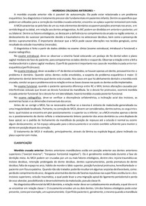 MORDIDAS CRUZADAS ANTERIORES