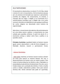 ILUMINISMO (resumo enem/ensino medio/vestibulares)