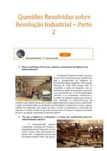1 1 Questões Resolvidas Sobre Revolução Industrial - parte 2