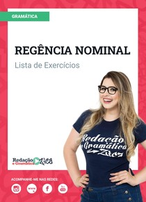 Lista de Exercícios de Regência Nominal - Profa Pamba - #ExclusivoPD