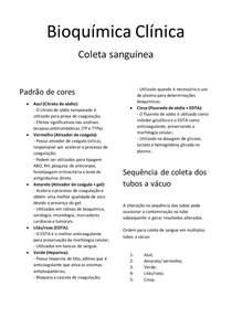 Bioquímica Clínica Tubos de coleta