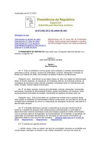 LEI DE LICITAÇÃO E CONTRATOS (ADMINISTRAÇÃO PÚBLICA) L8666
