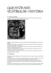 QUESTÕES DE VESTIBULAR -HISTÓRIA