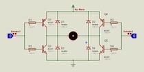 ponte H para motores - circuito no Proteus