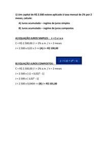 MATEMÁTICA FINANCEIRA - AULA 04 - EXERCÍCIOS