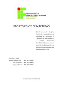 PROJETO PONTE DE MACARRÃO