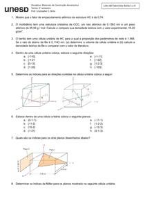 Lista 1   Materiais para aplicações aeronáuticas