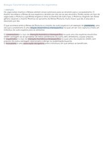 Características adaptativas dos organismos