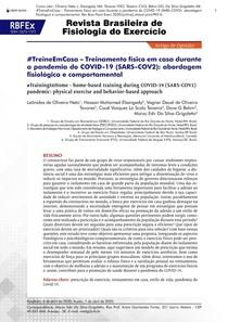 """""""Treinamento físico em casa durante a pandemia do COVID-19 (SARS-COV2): abordagem fisiológica e comportamental"""" Oliveira Neto et al."""