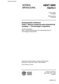 NBR15270-1 blocos para alvenaria estrutural e de vedaçaõ