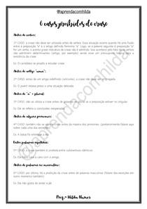 6 casos probidos de crase