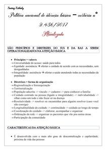 Política nacional de atenção básica portaria n° 2 436-2017 - ATUALIZADO - PARTE 1