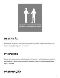 Aspectos sociolinguísticos da Libras 3