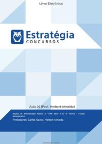 Noções de Administração Pública p_ TJ-PE (Itens 1 ao 4) Técnico - Função Administrativa