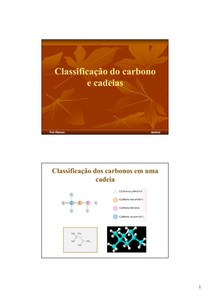 01.2 - Classificação do carbono e cadeias