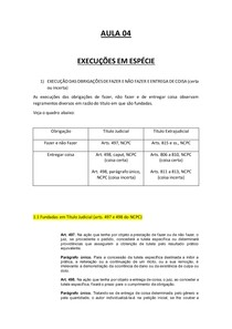 EXECUÇÃO EM ESPÉCIE- AULA 4 marcado