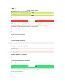av2 bioquimica aplicada edvaneo