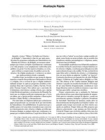 Mitos e verdades em ciência e religião - uma perspectiva histórica