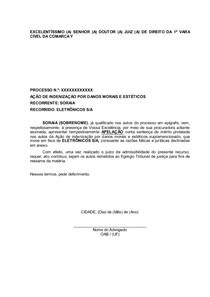 Modelo Apelação Peça Oab 209 Prática Jurídica Civil Ii