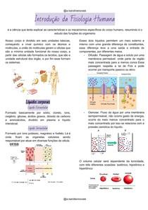 Introdução da Fisiologia Humana