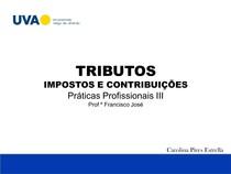 TRABALHO PRATICA PROFISSIONAIS   TRIBUTOS
