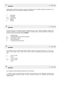 Química Analítica Farmacêutica II Simulado AV1 2020 2