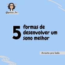 5 FORMAS DE DESENVOLVER UM SONO MELHOR