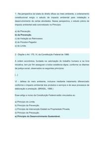 Direito Ambiental - Aula 2 objetivas