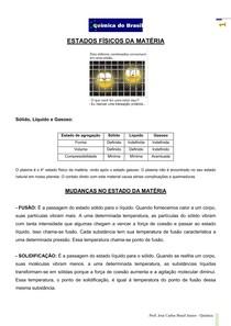 Estados físicos da matéria - teoria (Prof Brasil)