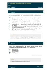 2° SIMULADO DE PLATAFORMAS MOLECULARES PARA AS ATIV BIOLÓGICAS
