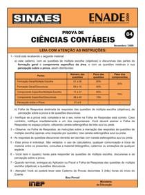 02_CIENCIAS_CONTABEIS - 2009- PROVA ENADE