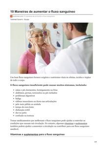 10 Maneiras de aumentar o fluxo sanguíneo