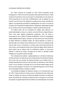 A CRUZADA CONTRA OS CÁTAROS