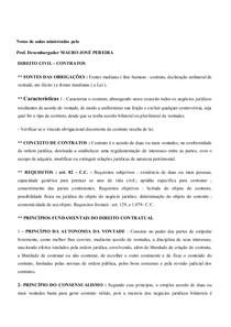 NOTAS DE AULAS MINISTRADAS PELO PROF. DES. MAURO J. PEREIRA