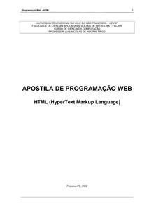 2 Programação HTML 2