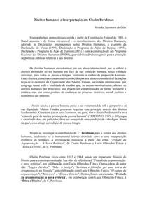 Direitos humanos e interpretacao em Chaim Perelman