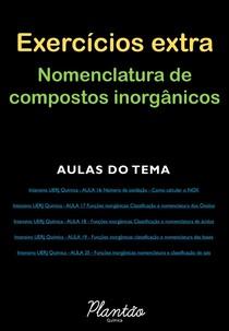 Lista extra - Nomenclatura compostos inorgânicos
