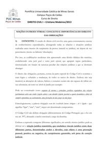 Direito Civil - Obrigações